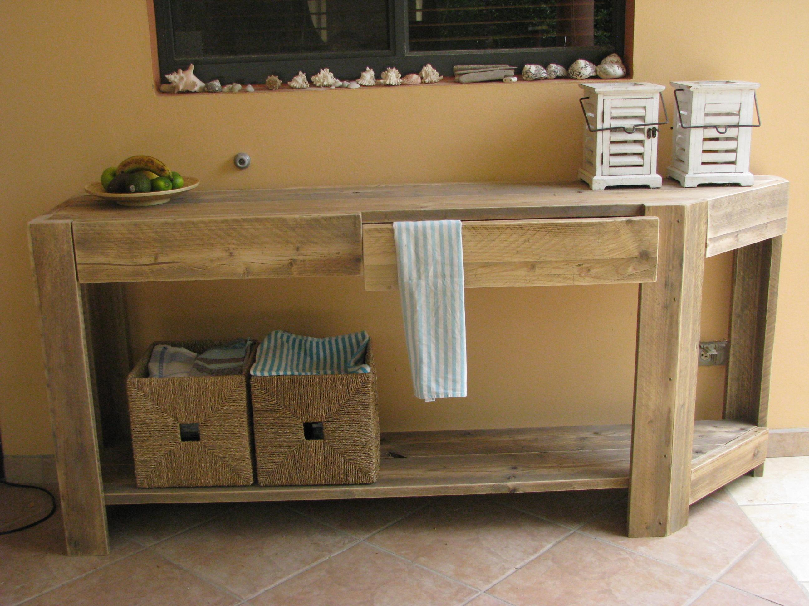Side Table Keuken.Keuken Side Table Op Maat Met 2 Lades B45 X L200x H93 Plank